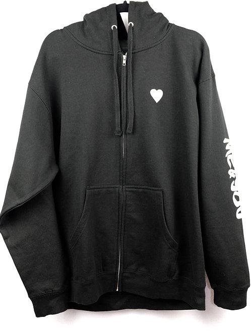 Unisex Shattered Flag Heart Zip-Up Hoodie