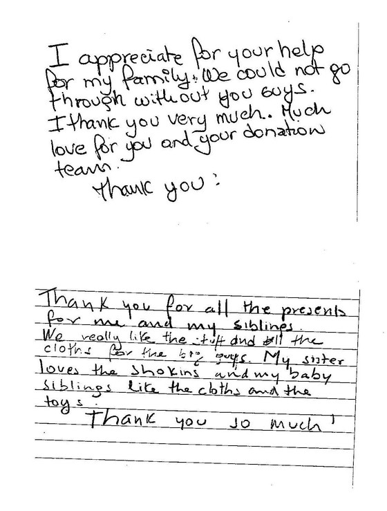 Letters from Summit Hall Elementary