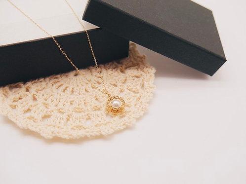 【アイ・K】K10イエローゴールド あこや真珠5mm珠プチネックレス