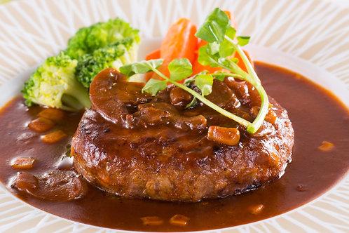 【まるよし】冷凍 松阪牛ハンバーグ(焼成)3個セット(デミグラスソース付)【冷凍】