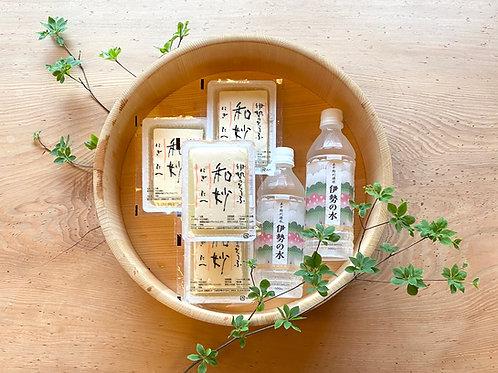 【豆腐庵山中】きぬ豆腐「和妙」と伊勢の水セット【冷蔵】