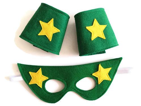 SMC03 Superhero Mask and Cuffs Set x 3