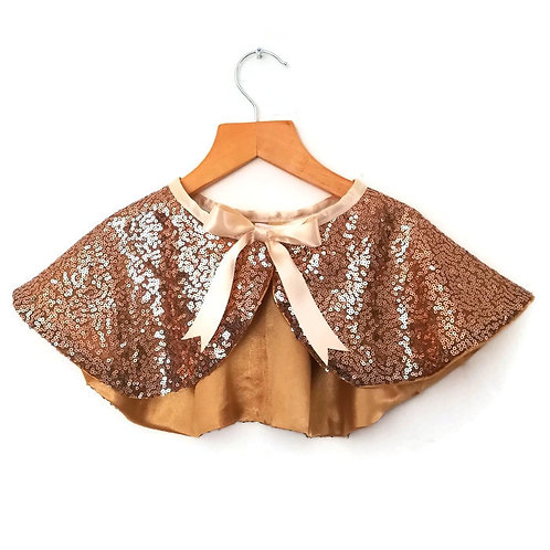 SC02 Gold Sequin Cape x 3