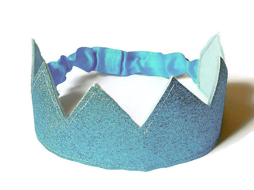 Turquoise Glitter Crown