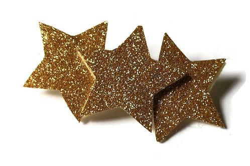 GSC01 Gold Star Hair Clip x 3