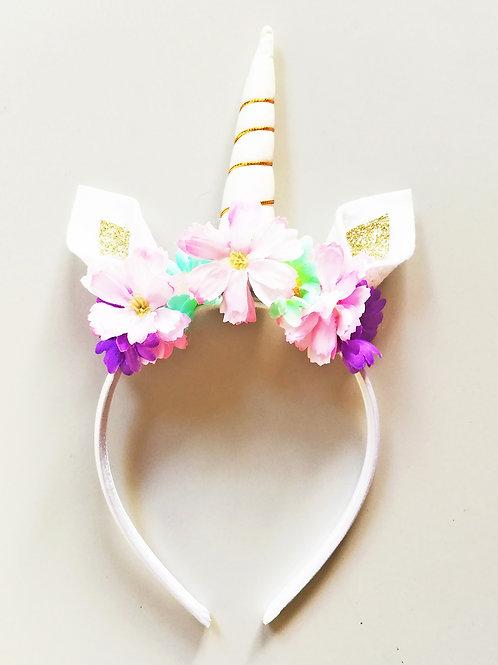 UH04 Pastel Unicorn Horn Headband x 3