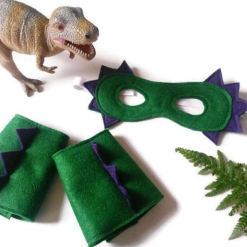 Dinosaur Mask and Cuffs Set