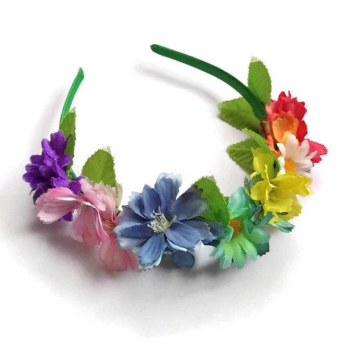 FH04 Rainbow Flower Crown x 3