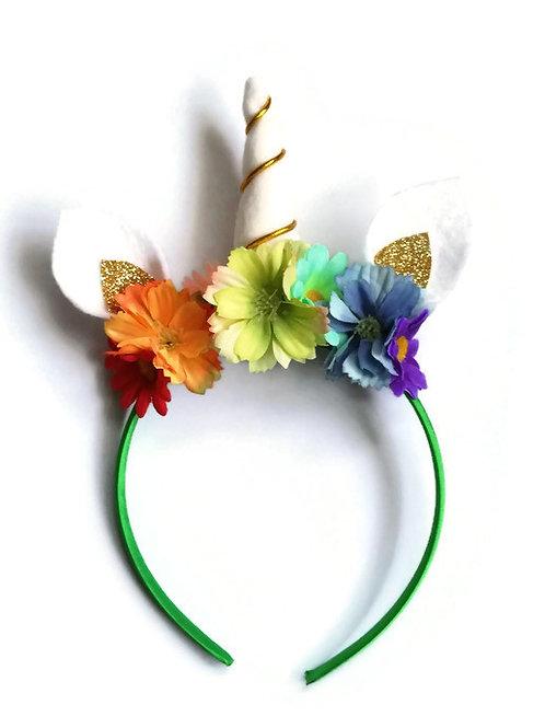 UH02 Rainbow Unicorn Horn Headband x 3