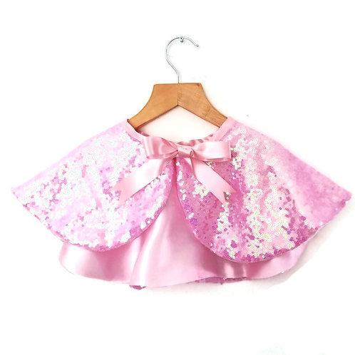 Pink Sequin Cape