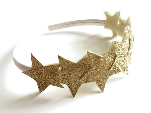 GSH01 Gold Star Headband x 3