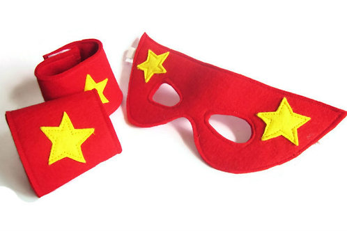Superhero Mask and Cuffs Set