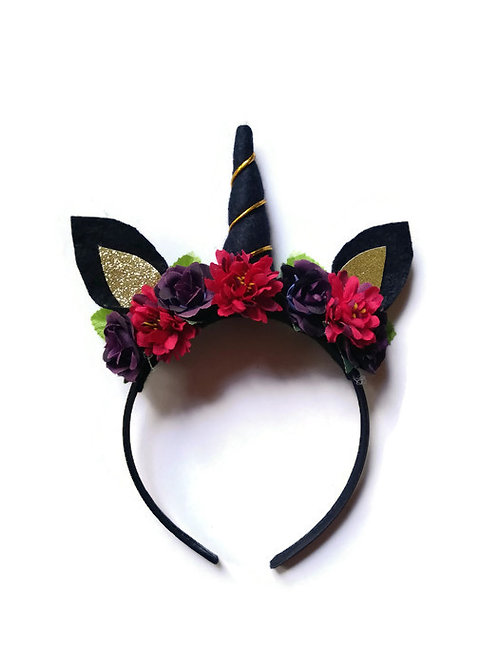 UH03 Midnight Unicorn Headband