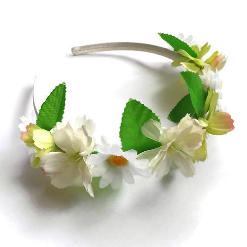 White Daisy Flower Crown