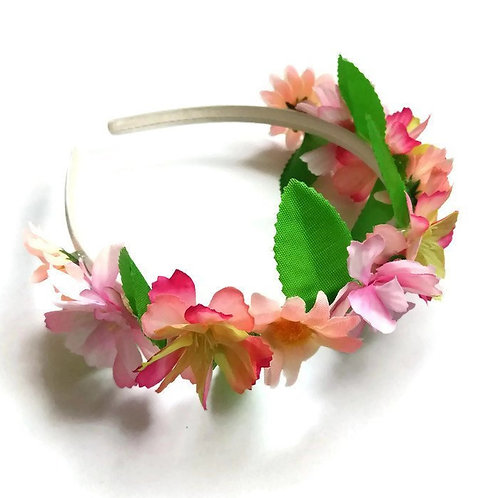 FH03 Pink Flower Crown x 3