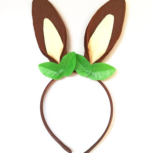 RH01 Brown Rabbit Ears x 3