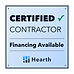 Hearth financing for a roof repair or replacemen offered by inspector roofing and restoration