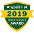 AngiesList certified warranty super sevice award