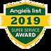 AngiesList certified warranty super sevice award