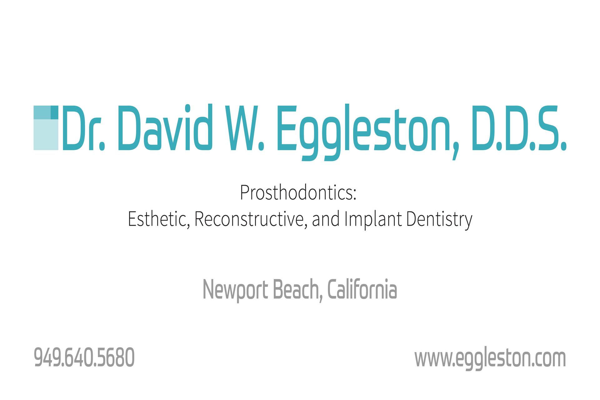 DR. DAVID EGGLESTON, D.D.S.