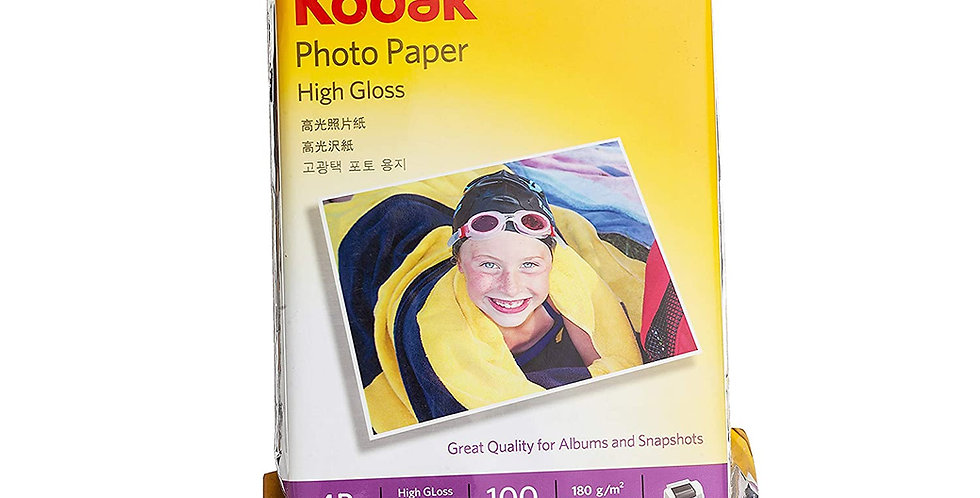 Kodak 180 GSM 4R (4 x 6) Photo Paper High Glossy