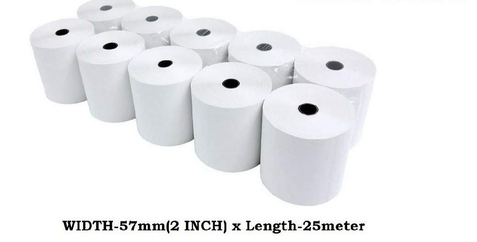 Realon pos thermal paper rolls billing machine rolls 58mm*25mtr 2 inch