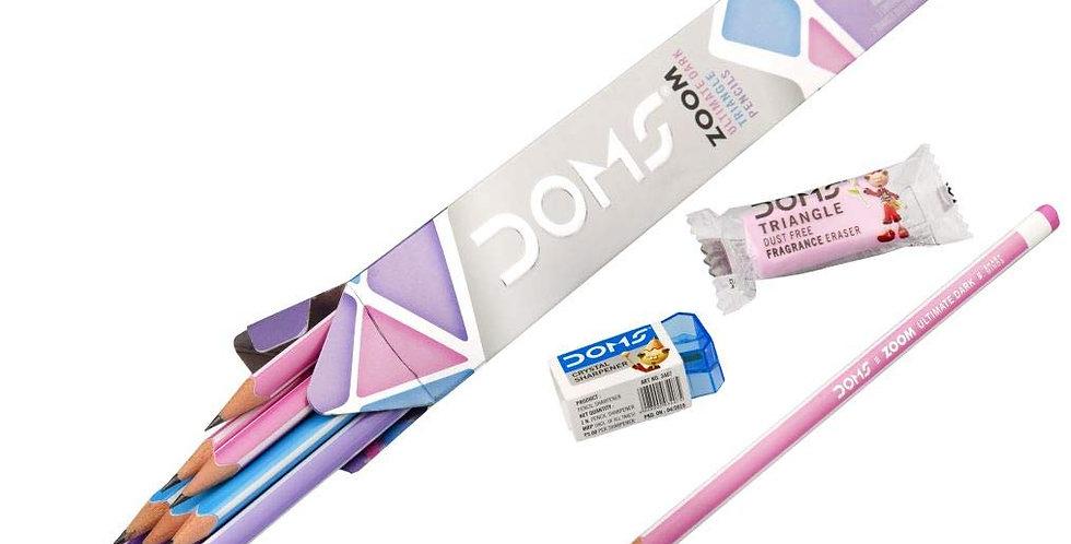 DOMS Zoom Triangle Pencil 10 Pcs