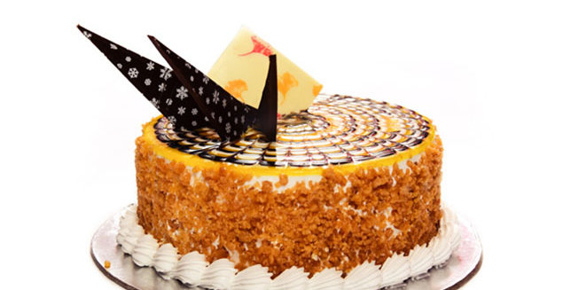Butter Scotch Cake ( Eggless), Fresh baked in 3 Hours ( Free Delivery*)