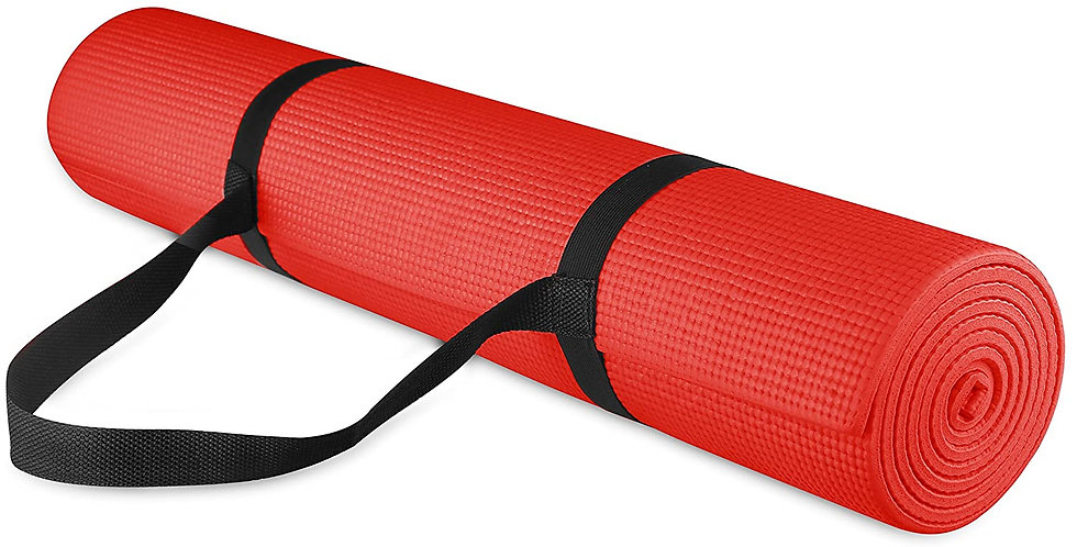 Yoga Mat Anti Skid Gym Workout and Flooring Exercise for Men Women (Single Side)