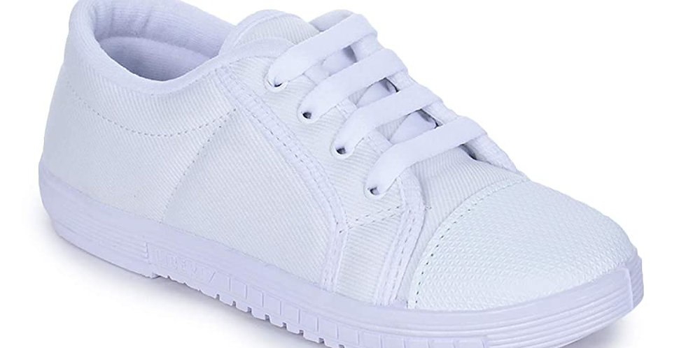 Prefect (from Liberty) Unisex Tennis White Canvas Sneakers