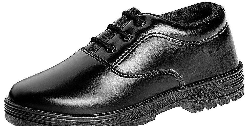 Liberty Boy's Black Formal Shoes