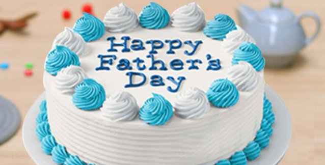 Vanilla Father Day Cake, Fresh Baked in 3 Hours (Free Delivery*)