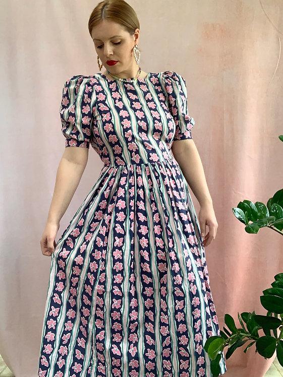 Summer - 1980s Laura Ashley Midi Dress