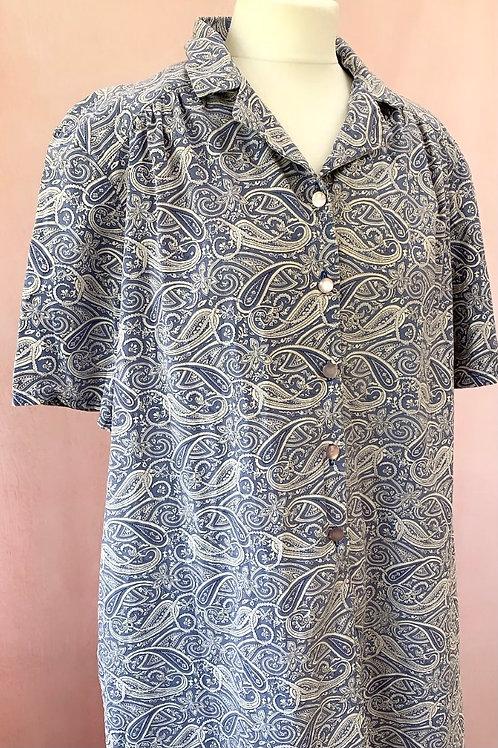 Sally - Vintage 1980s Shirt Style Dress