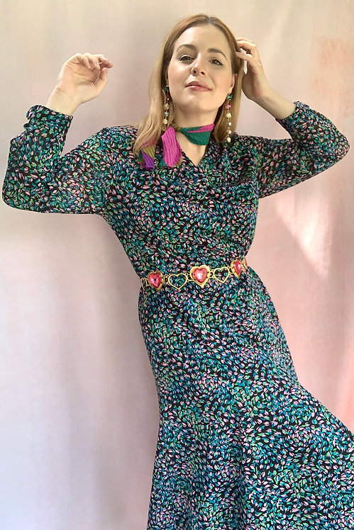 Marlowe - 1970s Confetti Floral Dress