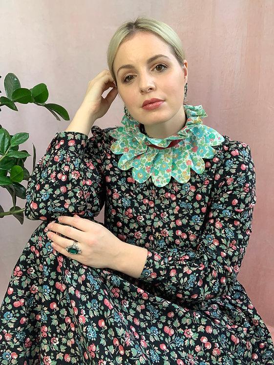 1980's Floral Cotton Midaxi Dress