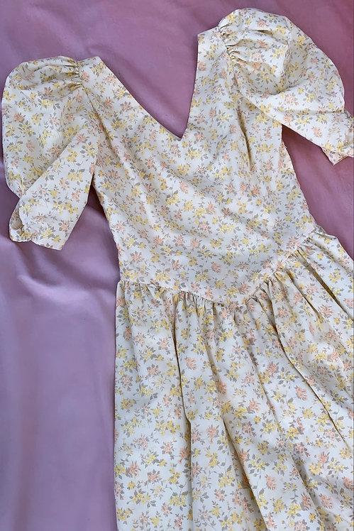 Blossom - Vintage 1980s Midi Dress