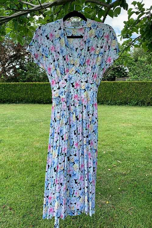 Hermione - 30s Style Floral Midi Dress