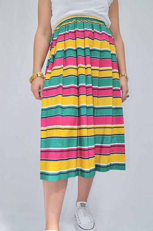 1980's Multicoloured Pleated Skirt