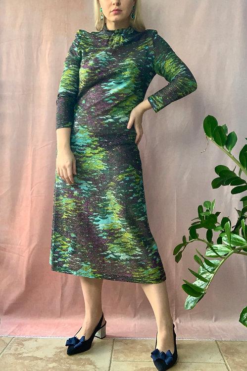 1970's Lurex Midaxi Dress by Eastex
