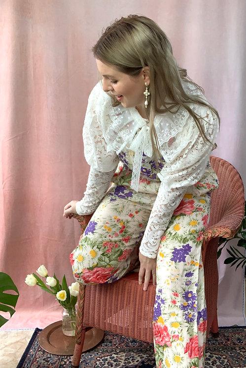 Celia - Vintage Floral Print Dungarees