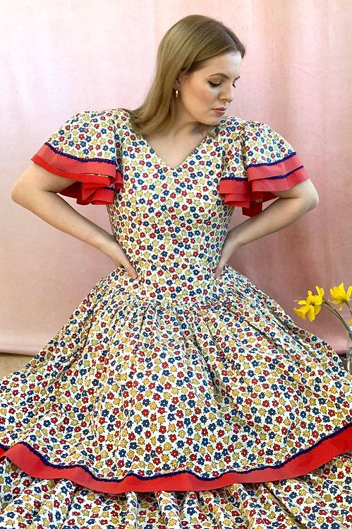 Holiday - Vintage 1970's Maxi Dress