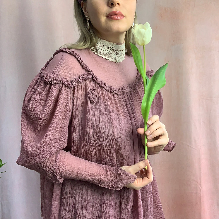 Iris - Vintage 1970's Edwardian Costume Blouse