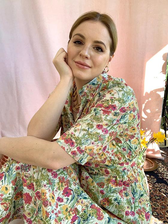 Helen - Vintage Belted Shirt Dress