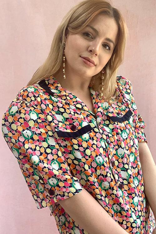 Alessandra - 1980s Tutti Fruitti Floral Mini