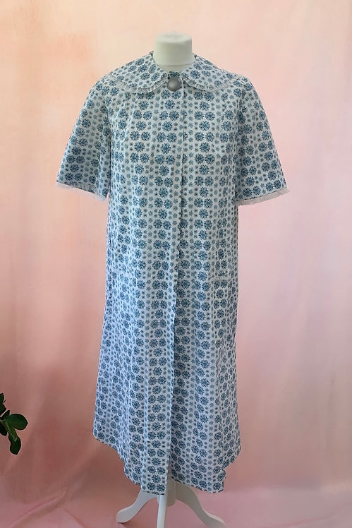 Forget-Me-Not - Vintage Cotton House Coat