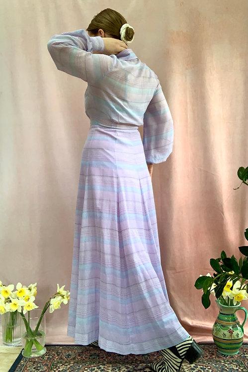 Lavender - Vintage 1970's Maxi Dress
