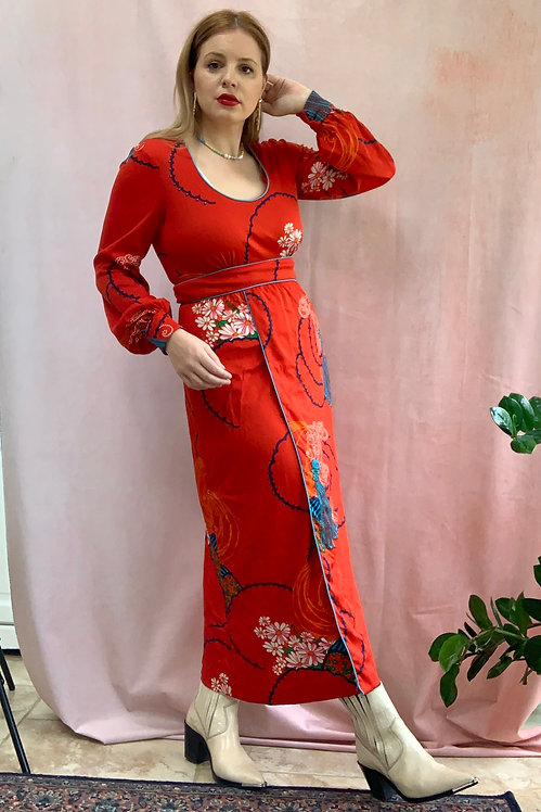 Selena - 1960s Jersey Maxi Dress