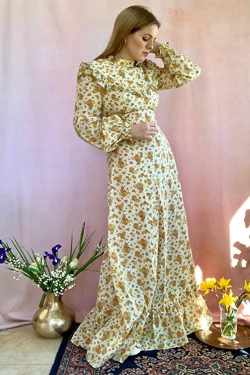 Dolly - Vintage 1970's Cotton Prairie Dress