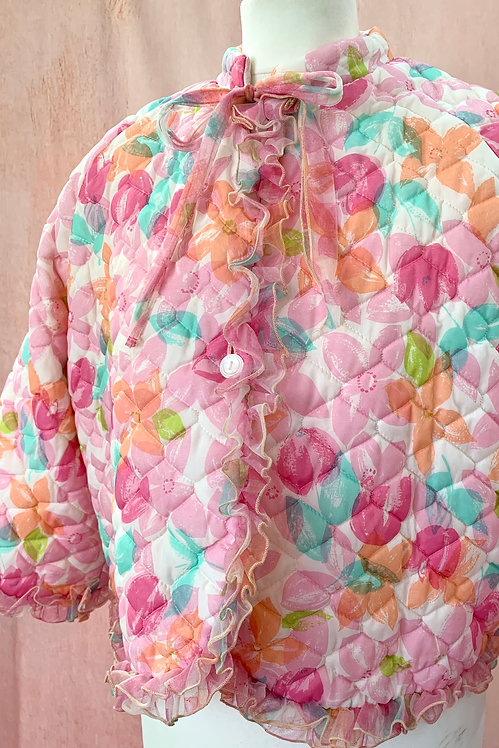 Quilted Floral Bed Jacket